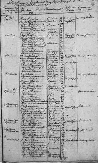 Norway 1815 census list